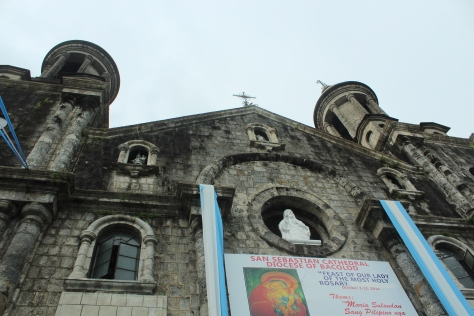 A shot of the church without the political statements