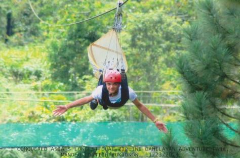 Ziplining at Dahilayan Park