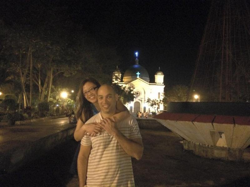 Mike and Katrina enjoying their time at the Silay City Plaza